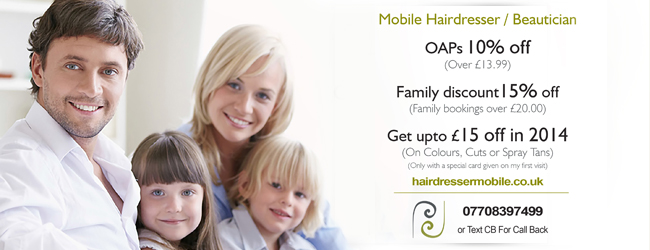 Suzy Hairdresser Mobile Offers - for October